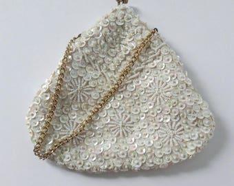 Vintage Sequined Evening Bag