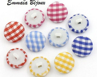 2 buttons gingham 14 mm