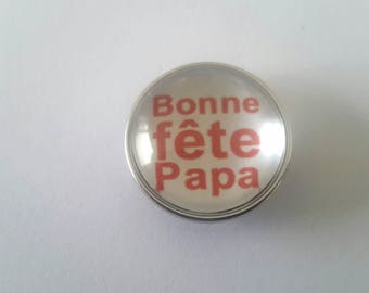 snap glass cabochon 18mm good celebrate dad