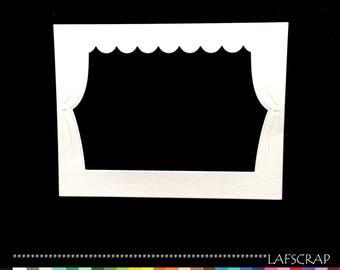 1 cut frame stage show theater curtain embellishment Scrapbook die cut scrap scrapbooking decorative paper