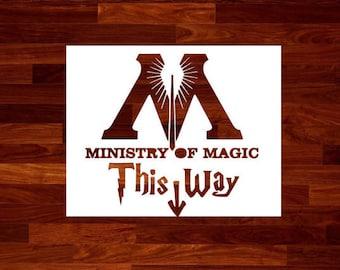 Ministry of Magic Stencil Harry Potter Stencil