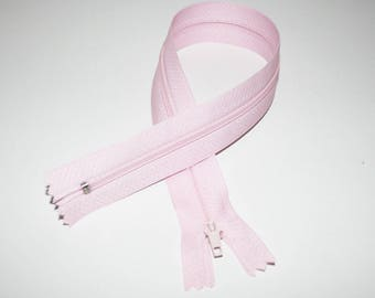 Zip closure, 35 cm, pastel pink, not separable