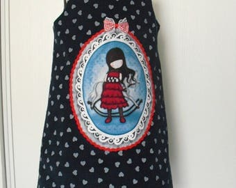 "Pretty winter dress ""Girl"" T 5/6 years"