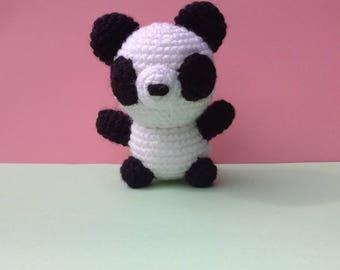 Panda crochet acrylic wool