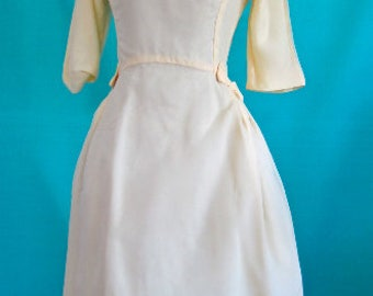 XS S 50s 60s Yellow Party Dress Chiffon & Bows Classic by Lori Deb Prom Cocktail Full Skirt Vintage Designer Small