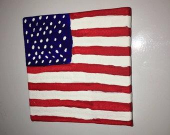 American flag magnet
