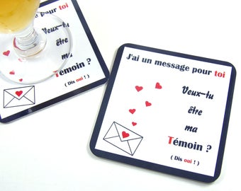 Requires witness wedding gift wife witness coaster coaster coaster wedding