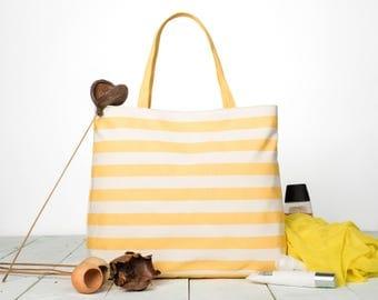 Simple Summer Bag, Simple Striped Summer Bag