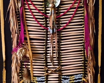 Reproduction of a Native American breast plate