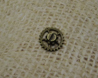 5 gears steampunk metal large screw bronze 14mm