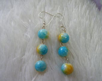 Blue/Yellow Earrings