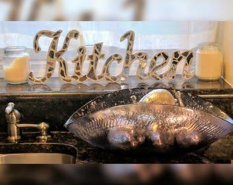 Broken Mirror Cursive Kitchen Word Art