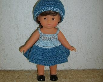 Dress and bonnet for Richard Doll set