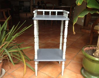 Gray weathered old side table
