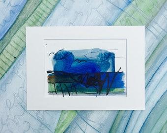 Seascape Painting, Fine Art Seascape, Abstract Seascape, Shore Painting, Seaside, Sea Painting, South Coast, Beach Decor, Three Little Birds