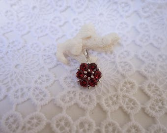 Pink Silver and Garnet pendant