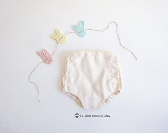 Bloomers / covers layer stripe baby - yellow/white