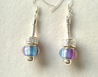 multicolored striped Stud Earrings