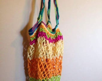 Large crocheted market bag