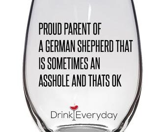 German Shepherd Wine Glass, German Shepherd Gift, German Shepherd Funny