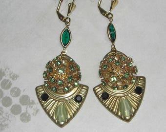 Art deco Cleopatra earrings