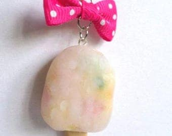 Necklace ice water fruit Fimo