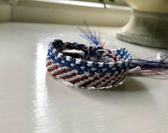 Stars and Stripes Friendship Bracelet