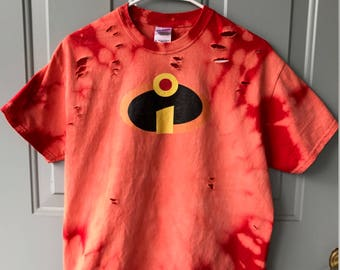 Bleached and Ripped Distressed Incredibles Shirt