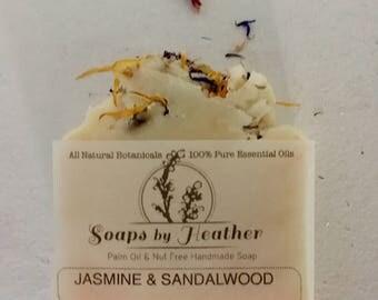 Hand Made Soap - 'Jasmine & Sandalwood' - Palm oil Free Nut Free