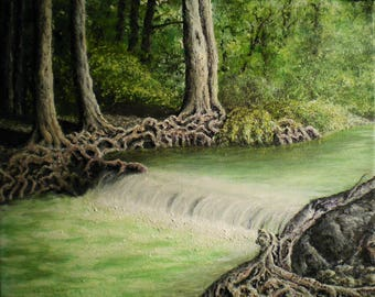 Cypress Creek - Original Acrylic on Gallery-Wrapped Canvas by Patrick Egan
