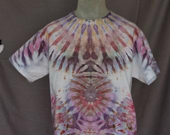 Handmade Ice Dye T-Shirt: Large
