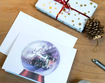 The Magic Snowman Snow Globe Christmas Card