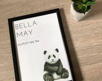 A4 Nursery Panda Print