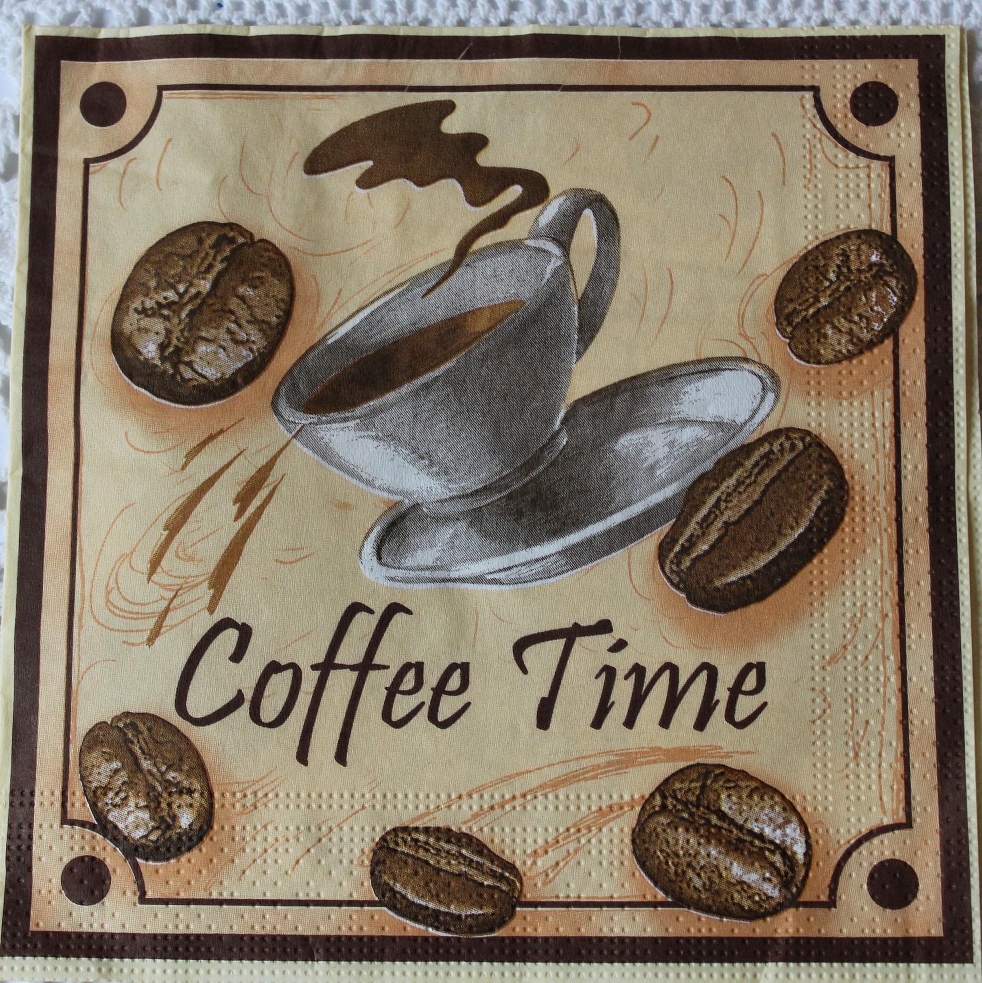 Set Decoupage Napkins Coffee Paper napkin For Decoupage Coffee