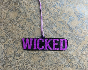Wicked Ornament from Redd's Wicked Black Cherry Aluminum Can - Beer Can Art - Soda Can Art - Naughty Gift
