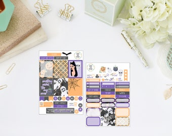25% OFF SALE (no coupon needed)  - Wicked Tiny Kit - Vertical Planner Stickers (Weekly Sticker Kit) - For Use With Erin Condren Life Planner