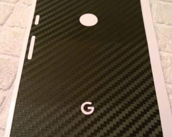 Google Pixel Black Carbon Fiber Skin - Dillowraps