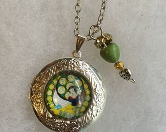 Handmade Snow Locket Necklace and Charm