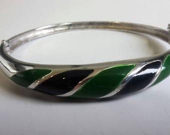 Enamel bracelet Silver 835 enamelled