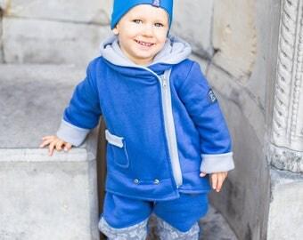 Unique jacket, Jeans Blue