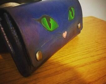 Cat eye women's clutch wallet