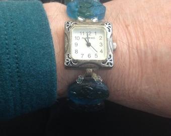 Beaded watchband