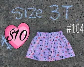 Wonderland Cards Skirt - 100% Cotton - Outskirts Apparel - Ready to Ship  - Size 3T