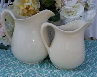 Two Vintage Pitchers Homer Laughlin