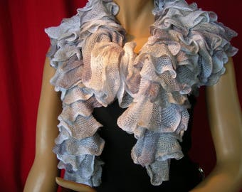 """Long scarf """"Brasilia"""" shades of grey collection"""