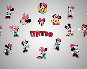 Minnie mouse svg file / Minnie mouse clipart / Minnie mouse printable / Minnie mouse wall print / Minnie mouse party kit