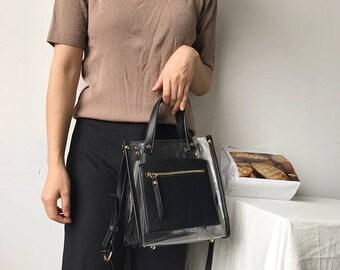 PVC leisure sling bag