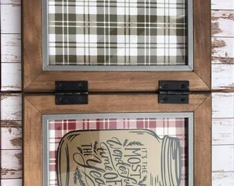 Rustic Holiday Frame