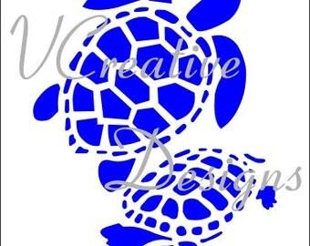 583 Turtles stencil