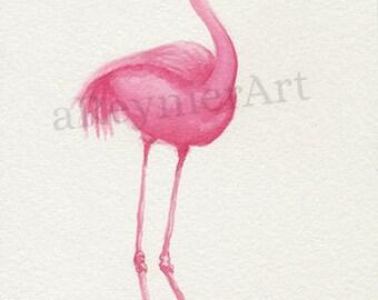 Original illustration series flamingo (n = 7/8) 10 X 15 cm